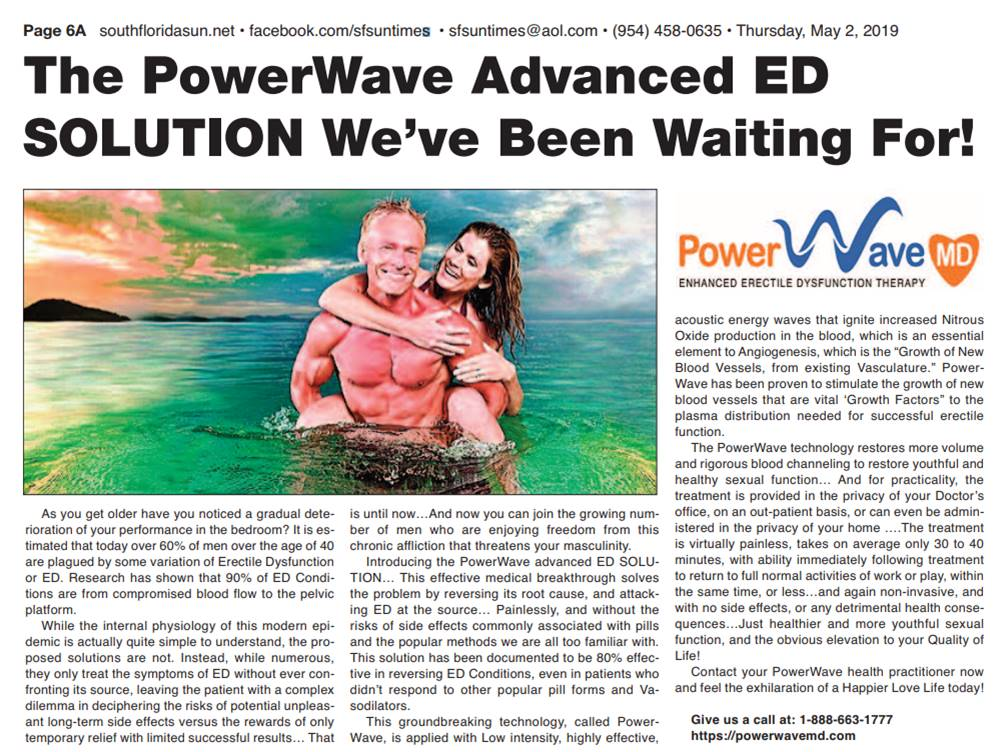 PowerWave ShockWave Therapy For ED